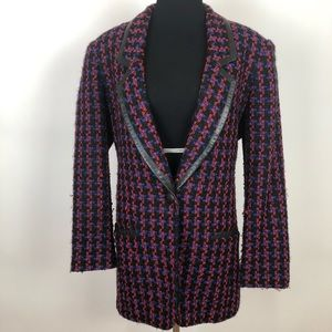 Jackets & Blazers - Cedars medium vintage tweed long boyfriend jacket
